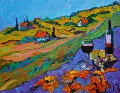 "Daily+Paintworks+-+""Tuscan+Happy+Hour""+-+Original+Fine+Art+for+Sale+-+©+Liz+Zornes"