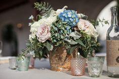 Autumn and Pete's Romantic Vintage Wedding Reception | AllFreeDIYWeddings.com