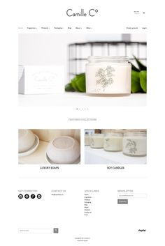 Logo, branding and web design for Camille Co. luxury soaps and scented soy candles. Find the full site www.camilleco.nz. I designed the website to be clean, minimalistic, modern and easy to navigate. Design by Cheyney is a small business providing a range graphic design solutions. Cheyney is based in Auckland, New Zealand but creates artwork for a range of clients all over the world.