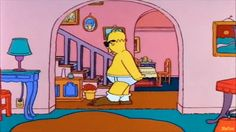 Los Simpsons - Cancion ¿Quien esta en Shorts?* Homer bailando las parodias del baile más famoso de Tom Cruise. La escena de 'Risky Business' Los Simpson capítulo 'Homer, El Hereje'.