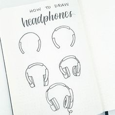 drawing on creativity Hey everyone! Be sure to show some love on this post! Here is how you draw headphones! Music Drawings, Doodle Drawings, Cute Drawings, Doodle Art, Doodle Illustrations, Music Headphones, How To Draw Headphones, Bujo Doodles, You Draw