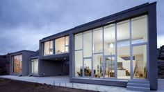 Modern House with glass facade