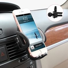 M-BETTER Universal Smartphones Car Air Vent Mount Holder Cradle Compatible with iPhone 7 7 Plus SE 6s 6 Plus 6 5s 5 4s 4 Samsung Galaxy S6 S5 S4 LG Nexus Sony Nokia and More (Black)