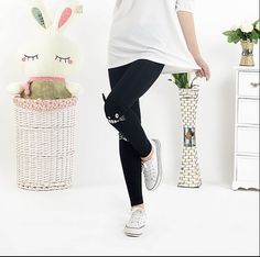 Mori Girl Clothing Leggings on Mori Girl の森ガール.Mori Anime Cute Totoro Leggings Preppy Ninth Tight Pants the best choice for you to go out or work !
