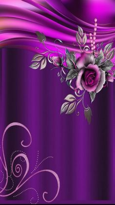 By Artist Unknown. Phone Background Wallpaper, Bling Wallpaper, Pretty Phone Wallpaper, Purple Wallpaper, Pretty Wallpapers, Colorful Wallpaper, Cellphone Wallpaper, Flower Wallpaper, Wallpaper Backgrounds
