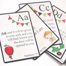 Kids' A-Z Bible verse cards with prayers for parents to pray over their children, corresponding to the verse on the back! from better life bags Prayer For Parents, Kids Prayer, Better Life Bags, Prayer Jar, Preschool Bible, Preschool Rules, Preschool Ideas, Verses For Kids, Childrens Alphabet