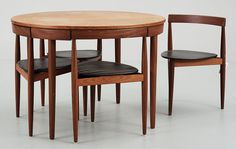compact teak furniture is great for small spaces! This dining set oozes style and will fit into a tiny space.