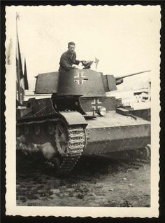 A Polish 7TP light tank in German use in Normandy, France
