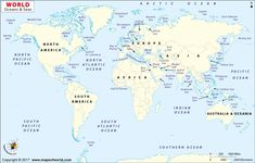 Buy asia centric world map in mercator projection pinterest asia pacific and atlantic ocean map world ocean map oceans of the world 1000 x 639 pixels gumiabroncs Gallery