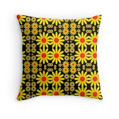 """""""FLOWER POWER-2"""" Throw Pillows by IMPACTEES   Redbubble"""