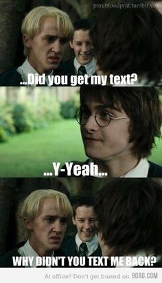 I'm not even into it but this is too funny! #DracoMalfoy #HarryPotter #Drarry