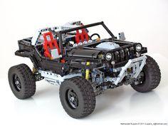 LEGO Jeep Hurricane by Nathanael Kuipers Lego Technic Truck, Lego Truck, Legos, Lego Cars, Lego Auto, Technique Lego, Construction Lego, Lego Room, Lego Models