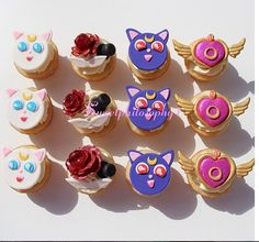 sailor moon cupcakes