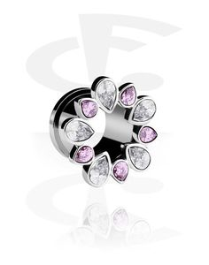 Jewelled Flesh Tunnel (Surgical Steel 316L) | Crazy Factory online piercing jewelry shop