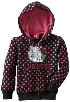 Hello Kitty Girls 2-6X Fleece Hoodie With Polka Dot $20.40