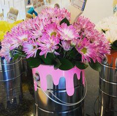 Unique Flowers, Paint Cans, Flower Vases, Canning, Vase, Home Canning, Paint Pots, Conservation