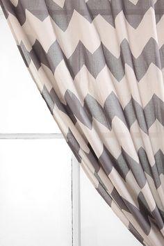 Tonal Zigzag Curtain  #UrbanOutfitters