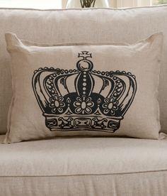"""King's Crown"" Decorative Pillow"