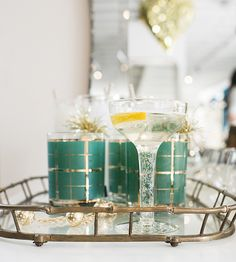 Vintage barware from Cin Cin Vintage at The Candy Shop Collection launch party
