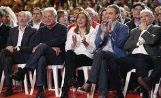 Felipe González, ZP, Rubalcaba, Guerra, Madina o Chacón, entre los apoyos a Díaz en su estreno