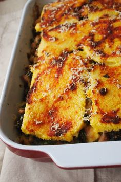 Layered Polenta Casserole Recipe An easy and delicious meatless dinner