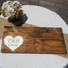Personalized Hand Painted Wood Sign, Wedding Guest Book Sign, Sign on Etsy, $77.99 CAD