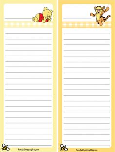 List Stationery
