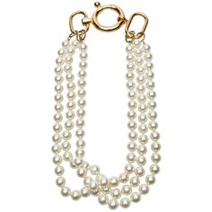 FALLON PEARL NECKLACE ($195) ❤ liked on Polyvore