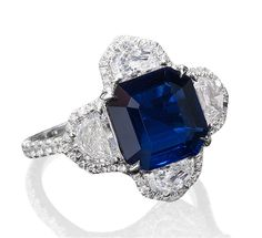 Sapphire and Diamond Quatrefoil Ring - Bayco - Product Search - JCK Marketplace