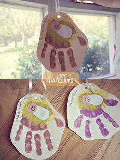 Christmas kids crafts, handprint art For unto us a child is born