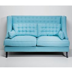 Vegas Light Blue Sofa - Furnies.nl
