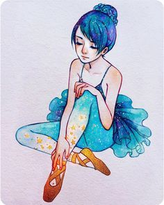 """""""""""The magical ballet shoes ⭐️"""" - Finally done! Haha dunno why this took me so…"""