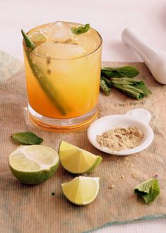 Indian passion (mojito with an Indian touch)  http://mykitchenantics.blogspot.com/2011/10/passion-fruit-two-ways.html
