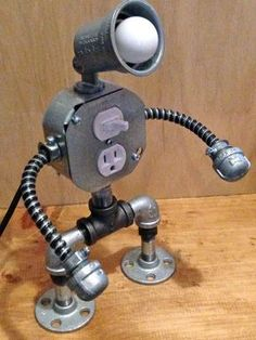 Robot lamp by JosephBarral on Etsy                              …