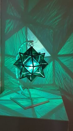 """""""Hadar"""" Luminary Pendant light Crafted with hand-blown glass Geometric Pendant Light, Glass Pendant Light, Deco Luminaire, Stained Glass Crafts, Glass Artwork, Light Crafts, Large Painting, Abstract Wall Art, Abstract Landscape"""