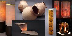 Leuchten und Objekte aus Holz