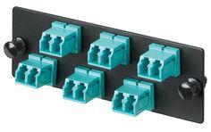 Panduit LC OS1/OS2 FAP loaded with twelve LC duplex singlemode fiber optic adapters with zirconia ceramic split sleeves