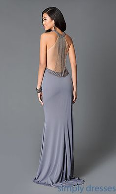High Neck Sheer Back Gown JO-JVN-JVN31934 from JVN by Jovani