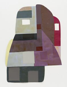 """Ruth Root  Untitled. 2003  Cut and pasted painted paper  9 x 13"""""""