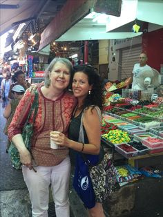 Me and Melissa Bar-Ilan, an LLL Leader and IBCLC, who was kind enough to spend a day with me at the old market in Tel Avid in September 2016.