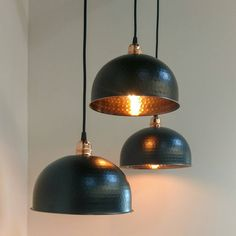 Are you interested in our Copper and Black Light? With our Copper Ceiling Light you need look no further. Copper Ceiling, Copper Pendant Lights, Black Pendant Light, Copper Lighting, Ceiling Pendant, Pendant Lamp, Pendant Lighting, Ceiling Lights, Industrial Lighting