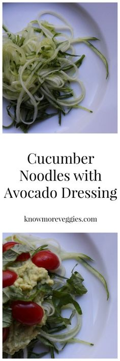 Cucumber Noodles with Avocado Dressing