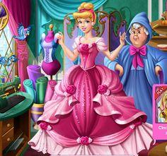 #cenicienta necesita un gran #vestido para la fiesta y tu serás su #hadamadrina  #juegosdevestir #juegosdeprincesas  http://www.juegos-vestir.net/jugar/los-vestidos-de-cenicienta