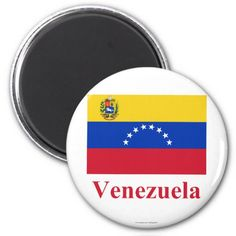Shop Venezuela Flag with Name Magnet created by Vexillophile. Venezuela Flag, Flags With Names, Flags Of The World, Round Magnets, National Flag, Paper Cover, Women Lawyer, Apartment Ideas, World Flags