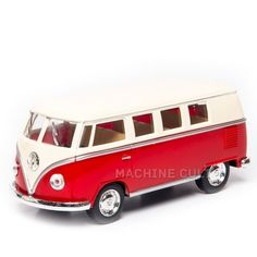Perua Kombi 1962 Saia e Blusa Vermelha - 1:32 - Machine Cult | Loja online especializada em camisetas, miniaturas, quadros, placas e decoração temática de carros, motos e bikes