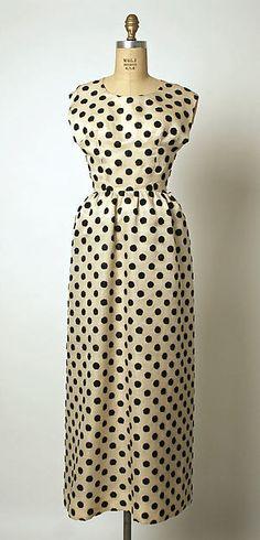 1955, France - Silk evening dress by Cristobal Balenciaga