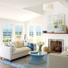 Family Friendly Maine Cottage Coastal StyleCoastal DecorDecorating Living RoomsHome DecoratingMaine CottageBoat HouseBeach CondoDining