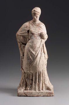 Sculpture of a Woman. Culture: Greek, Era: Uncertain, Materials: Terracotta