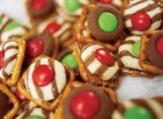 pretzel and candy kiss