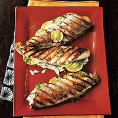 Grilled Trout   MyRecipes.com #myplate #protein